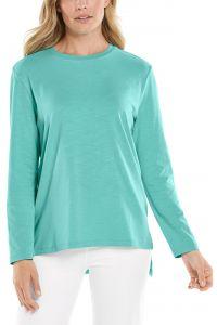 Coolibar---UV-Shirt-for-women---Carington-Tee---Crisp-Aqua
