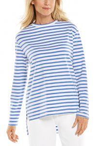 Coolibar---UV-Shirt-for-women---Carington-Tee---French-Blue/White