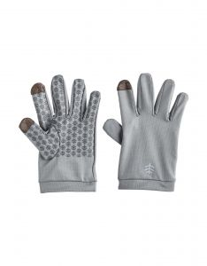 Coolibar---UV-resistant-gloves-for-kids---Y-Gannet---Pebble-Grey