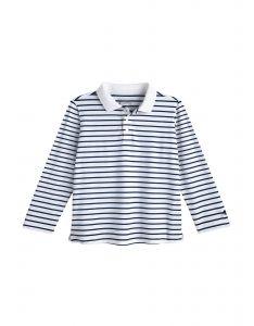 Coolibar---UV-Polo-Shirt-for-toddlers---Longsleeve---Coppitt---White/Navy