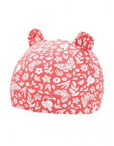 Coolibar---UV-resistant-babyhat---Critter-Fauna---Peach/Jungle-Floral