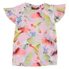 Molo---UV-Swim-shirt-short-sleeves-for-girls---Neona---Cockatoos