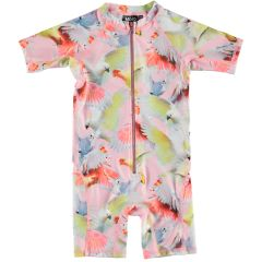 Molo---UV-Swimsuit-with-short-sleeves-for-girls---Neka---Cockatoos