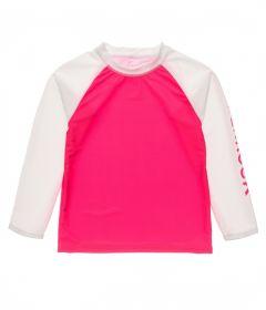 Snapper-Rock---UV-Rash-Top-for-girls---Long-Sleeve---Lipstick---Pink/White