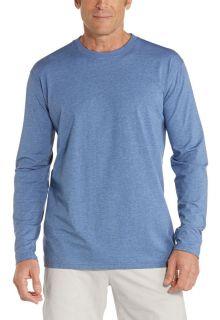 Coolibar---UV-Shirt-for-men---Longsleeve---Morada---Pacific-Blue