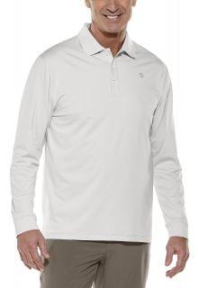 Coolibar---UV-Sport-Polo-for-men---Longsleeve---Erodym-Golf---Silver