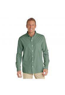 Coolibar - UV shirt for men - green - Front