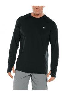 Coolibar---UV-Sports-Shirt-for-men---Longsleeve---Agility-Performance---Black