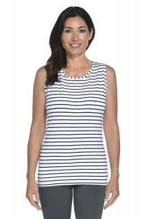 Coolibar---UV-Basic-Tank---navy/white-stripe