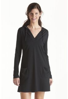 Coolibar---UPF-50+-Women's-Poolside-Cover-Up-Hoodie---Black