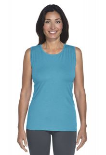 Coolibar - UV Basic Tank - azure - Front