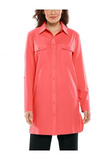 Coolibar---UV-Shirt-for-women---Santorini-Tunic-Blouse---Living-Coral
