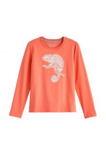 Coolibar---UV-Shirt-for-kids---Longsleeve---Coco-Plum-Graphic---Soft-Coral