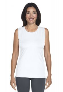 Coolibar---UV-Basic-Tank---white