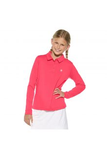 Coolibar - UV polo for girls - pink - Front