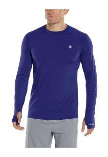 Coolibar---UV-Sports-Shirt-for-men---Longsleeve---Agility-Performance---Midnight-Blue