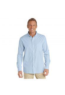 Coolibar---UV-shirt-for-men---Light-blue