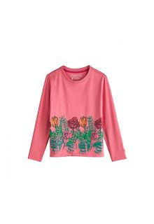 Coolibar - UV shirt for kids - flower garden - pink - Front