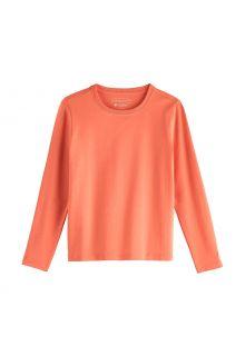 Coolibar---UV-Shirt-for-kids---Longsleeve---Coco-Plum---Soft-Coral