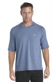 Coolibar---Short-sleeve-UV-sport-tee---storm-blue