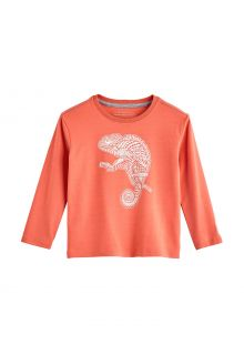 Coolibar---UV-Shirt-for-toddlers---Longsleeve---Coco-Plum-Graphic---Soft-Coral