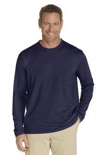 UV UV Long-Sleeve T-Shirt - Navy - Front