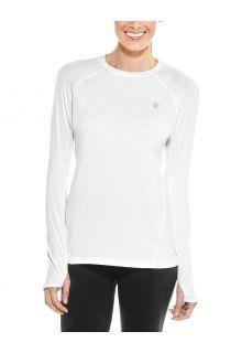 Coolibar---UV-Fitness-Top-for-women---Longsleeve---Devi---White