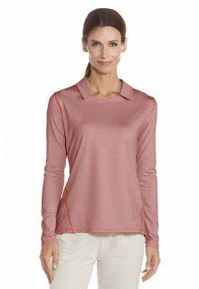 Coolibar - UV Polo - Long sleeves - Peach - Front