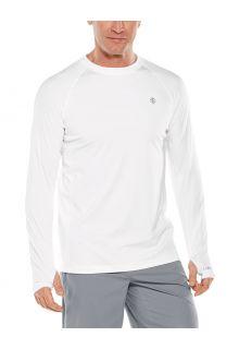 Coolibar---UV-Sports-Shirt-for-men---Longsleeve---Agility-Performance---White