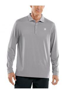 Coolibar---UV-Sport-Polo-for-men---Longsleeve---Erodym-Golf---Space-Grey