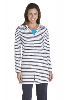 Coolibar---UV-long-cover-up-for-ladies---Navy-stripes