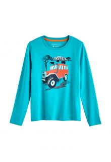 Coolibar---UV-Shirt-for-kids---Longsleeve---Coco-Plum-Graphic---Turquoise