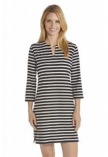 Coolibar - UV Tunic women - Black/White - Front