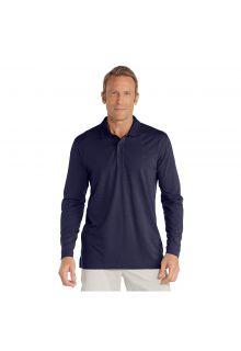 Coolibar---UV-Polo-Shirt-for-men---Longsleeve---Coppitt---Navy