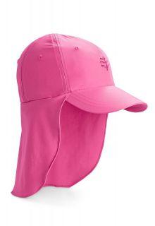 Coolibar---UV-zonnepet-voor-kinderen-met-nekflap---Aloha-roze