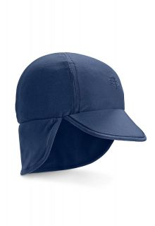 Coolibar---UV-sun-cap-for-babies-with-neck-flap---Navy-blue