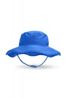 Coolibar---UV-bucket-hat-for-babies---Baja-blue