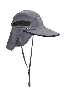 Coolibar---Convertible-UV-Fishing-Cap-for-men---Calec---Carbon/Black