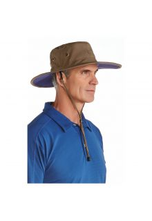 Coolibar---UV-sun-hat-for-men---Khaki-/-navy-blue