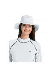 Coolibar---UV-bucket-hat-unisex---White