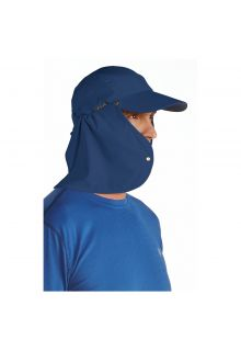Coolibar---UV-sun-cap-for-men-with-neck-flap---Navy-blue