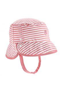 Coolibar---UV-Bucket-hat-for-babies---Linden---Seashell/White
