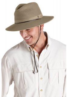 Coolibar---Crushable-ventilated-UV-Hat-for-men---Kaden---Khaki