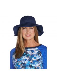Coolibar---UV-floppy-hat-for-women---Navy-blue