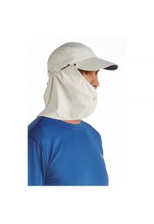 Coolibar---UV-sun-cap-for-men-with-neck-flap---Stone-grey-/-Navy-blue