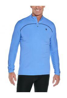 Coolibar---UV-Swim-Shirt-for-men---Longsleeve---Nocona-Zip---Surf-Blue