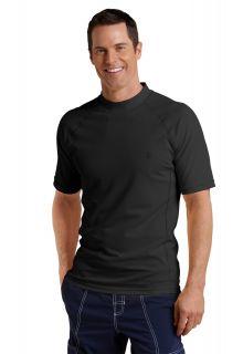Coolibar---Men's-Short-Sleeve-Swim-Shirt---Black