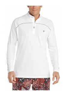 Coolibar---UV-Swim-Shirt-for-men---Longsleeve---Nocona-Zip---White