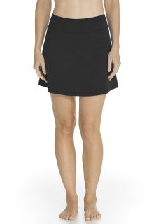 Coolibar---UV-Swim-skirt-women---Black