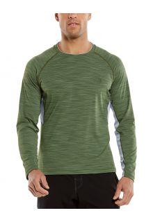 Coolibar---UV-Swim-Shirt-for-men---Longsleeve---Ultimate-Rash---Olive